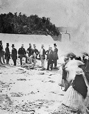 Edward VII - Edward at Niagara Falls, 1860