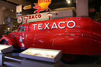 Texaco - 1939 Texaco tanker truck by Dodge on display at the Henry Ford Museum.