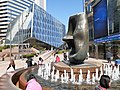 HK 中環 Central 交易廣場 Exchange Square 亨利摩爾 Henry Moore sculpture Oval with Points December 2019 SS2 06.jpg