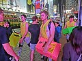 HK Causeway Bay night Ruby Sevens fans Hennessy Road visitors Mar-2013.JPG