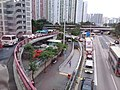 HK Kwun Tong Bus 284C view 觀塘道 Kwun Tong Road near Ping Shek Estate bridge n tunnel December 2018 SSG.jpg