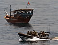 HMS Diamond's Boarding Team with a Dhow in the Middle East MOD 45154691.jpg
