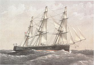 Turret ship - HMS ''Captain'' was one of the first ocean-going turret ships.