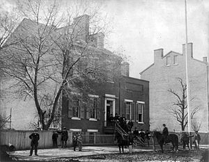 Signal Corps in the American Civil War - Headquarters of the U.S. Army Signal Corps, Washington, D.C., 1865.