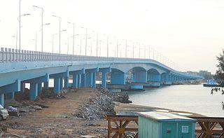 Haikou New East Bridge bridge in Peoples Republic of China
