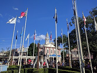 Liberty Square (Magic Kingdom) - Image: Hall of Presidents on Election Day (30230216084)