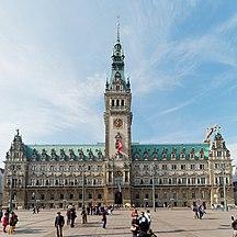 Hamburg-Government-Hamburg Rathausmarkt und Rathaus