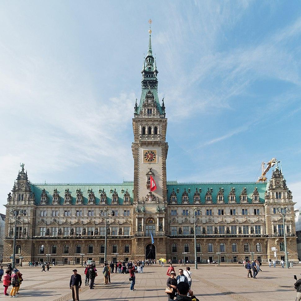 Hamburg Rathausmarkt und Rathaus
