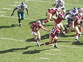 Handoff to Frank Gore at Eagles at 49ers 10-12-08 1.JPG