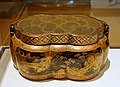 Handwarmer with landscapes, China, probably Suzhou, Qianlong period, 1736-1795 AD, lacquer with gold and pigments on metal core - Peabody Essex Museum - DSC08027.jpg