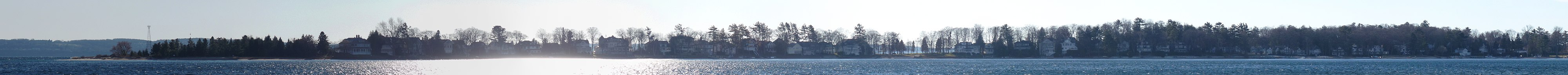 View of Harbor Point, MI from Wequetonsing, MI