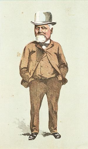 William Crowther (New Zealand politician) - 1896 caricature of William Crowther