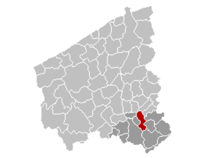 Harelbeke - Image: Harelbeke Location