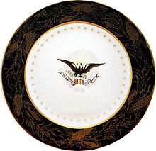 The Harrison china was designed by First Lady Caroline Harrison.  sc 1 st  Wikipedia & White House china - Wikipedia
