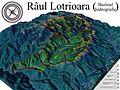Harta bazinului hidrografic al raului Lotrioara, afluent al Oltului.jpg