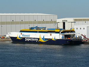 View of the second Hawaii Superferry (currentl...