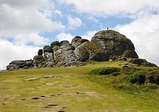 Haytor Tor in Dartmoor National Park, England