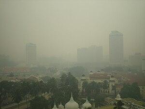 Operation Haze - Haze over Kuala Lumpur.