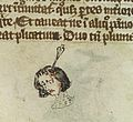 Head of man with arrow in head, 14th C Wellcome L0037332.jpg