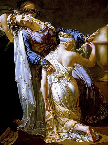 Hecuba and Polyxena, oil on canvas, after 1814 Hecuba and Polyxena LACMA 73.3.jpg