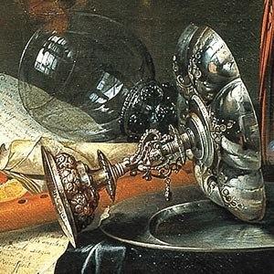 Heem, Jan Davidsz. de - A Richly Laid Table with Parrots - detail cup