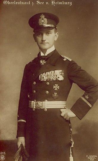 Heino von Heimburg - Oberleutnant z. See v. Heimburg with Pour le Mérite, 1917