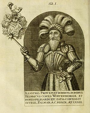 Henry, Count of Württemberg - Henry of Württemberg (later representation, probably not authentic)