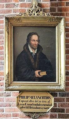 Melanchthonporträt in der Marienkirche Helsingborg, Kopie nach Cranach d. Ä. (Quelle: Wikimedia)