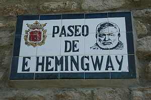 Walkway named for Ernest Hemingway, Ronda, Spa...