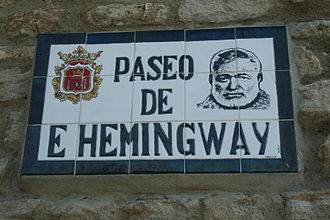 Death in the Afternoon - Walkway named for Ernest Hemingway, Ronda, Spain