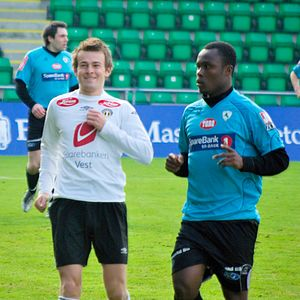 Paul Addo - Paul Addo (right) in a match against Sogndal