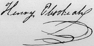 Henry Opukahaia - Image: Henry Obookiah signature
