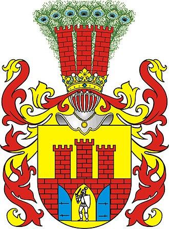 Wawrzyniec Grzymała Goślicki - Grzymała coat-of-arms
