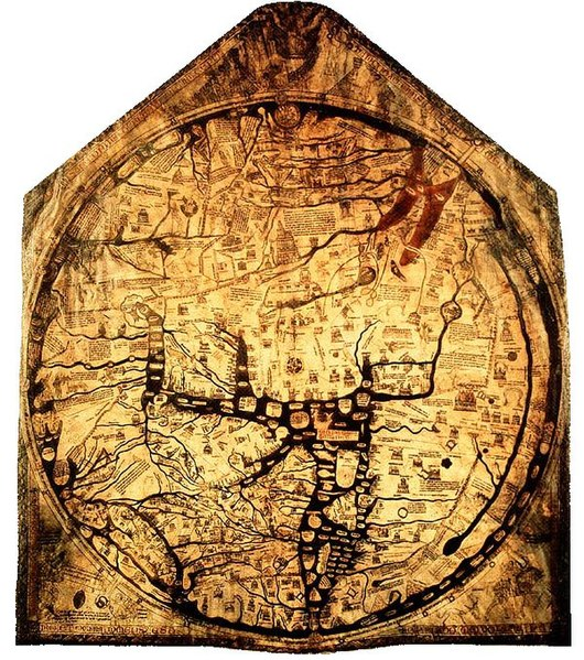 Hereford Mappa Mundi from Wikimedia Commons