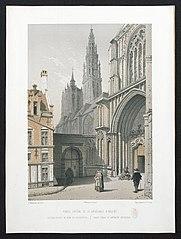 Het zuidelijke portaal van de kathedraal van Antwerpen