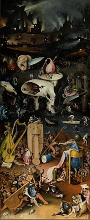 Hell, the right panel from the triptych The Garden of Earthly Delights