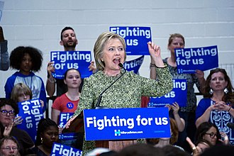 Hillside High School (Durham, North Carolina) - Hillary Clinton holding a campaign rally at Hillside, March 2016