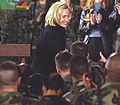 Hillary Rodham Clinton greets troops at Tuzla Air Force Base in Bosnia - Flickr - The Central Intelligence Agency.jpg