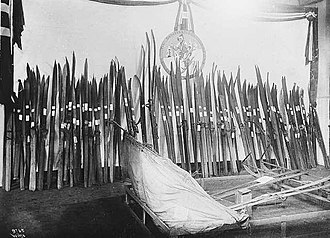 1914 Jubilee Exhibition - Hjalmar Welhaven's ski collection.