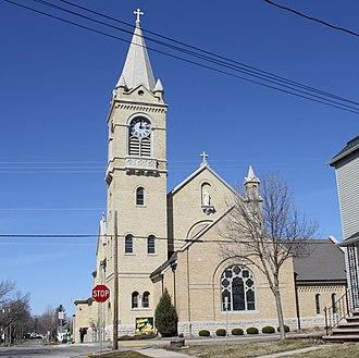 Holy Cross Church (Kaukauna, Wisconsin) - Image: Holy Cross Church Kaukauna WI