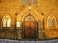 Holy Saviour Catholic Church, Nelson, Doorway - geograph.org.uk - 1068659.jpg
