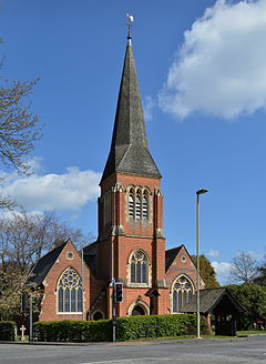 Holy Trinity Church, Hawley from the road.jpg