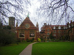 Vista dell'Homerton College