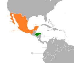 Honduras Mexico Map.Honduras Mexico Relations Wikipedia