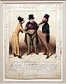 Honoré victorin daumier, un candidato, dalla serie caricaturama, 1837, litografia colorata a mano.jpg