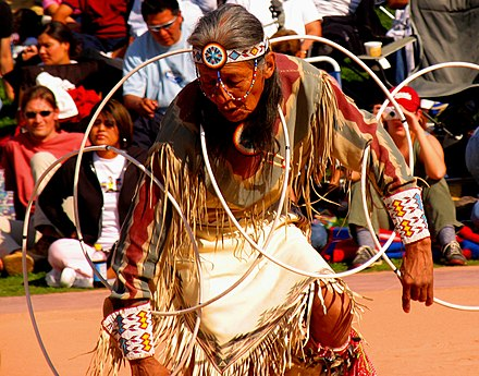 Participant in the 2005 World Championship Hoop Dance Contest. Hoop Dancer4.jpg