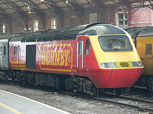 Hornby Railways - In 2006 a Cotswold Rail Class 43 HST power car carried a livery advertising Hornby. It has since been repainted.