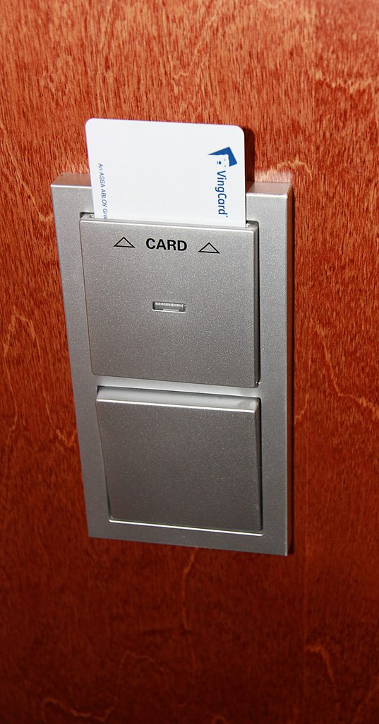Hotel Room Key Card Information