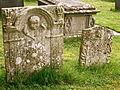 Hough-on-the-Hill 05. 18th century gravestones in graveyard.JPG