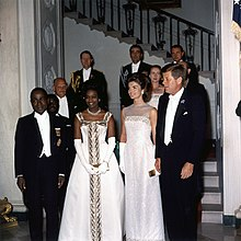 d7300a3fe902c Félix Houphouët-Boigny and his wife Marie-Thérèse Houphouët-Boigny with  John F. Kennedy and Jackie Kennedy in 1962